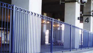 steel railway fencing