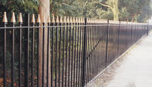 Solid Vertical Bar Fencing and Gates