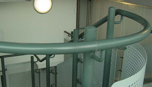 Steelway's Steel handrails are available in various materials for both internal and external applications.