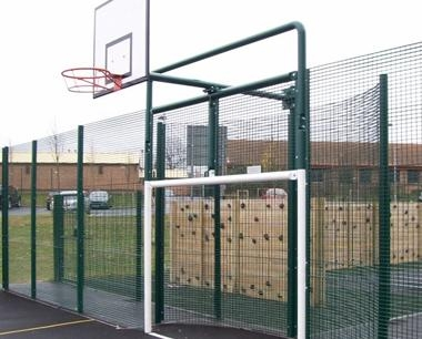 MUGA Goal Combination Unit with Curved Back