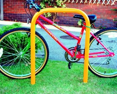 Yellow Steel Cycle Stand