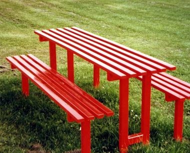 Red Playground Furniture - Queensgate Picnic Bench