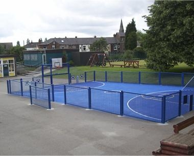 School MUGA Fencing