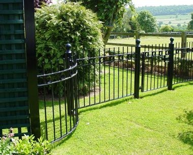 Black Residential Ornamental Fencing