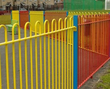Colourful Play Area Fencing