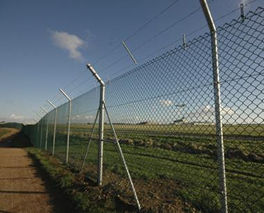 Security Chain Link Fencing at Airport
