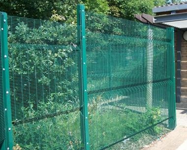 Green Longford Metal Security Fencing