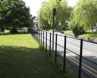 Metal Estate Fencing on road side