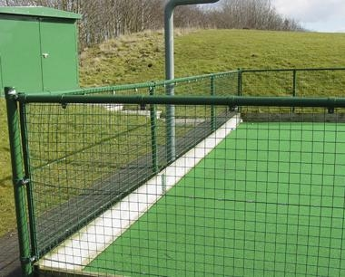 Standard System Weldmesh Fencing with Timber Kickboard