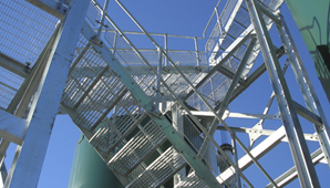 Steelway design, manufacture and install access metalwork including staircases, handrialing, platforms, walkways, fire escapes